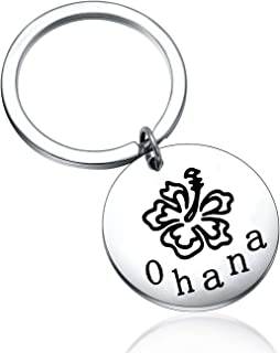 Ohana Keychain Ohana Means Family Hibiscus Charm Keychain