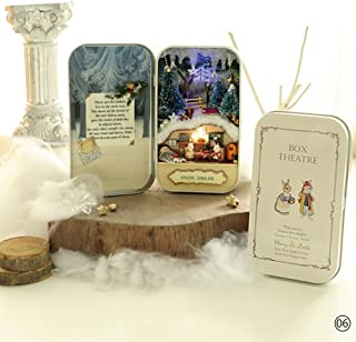 WXLAA DIY Model Dollhouse Miniature LED Light Box Theatre Birthday Gift Box 06