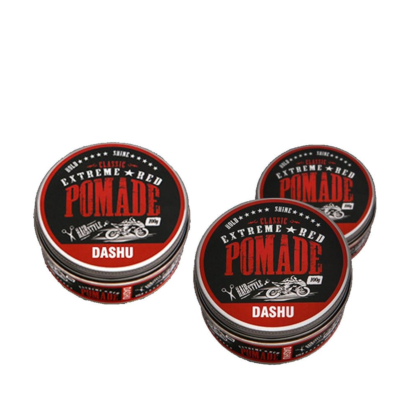 トースト前提博覧会(3個セット) x [DASHU] ダシュ クラシックエクストリームレッドポマード Classic Extreme Red Pomade Hair Wax 100ml / 韓国製 . 韓国直送品