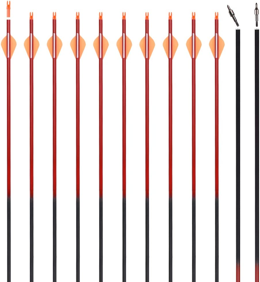 30 Inch Archery Carbon Arrows with Discount mail order Hunting Max 40% OFF Practice Remov