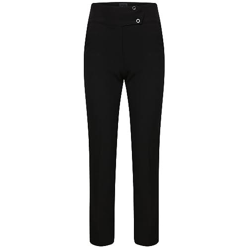 759f724fc Ladies Slim Fit Bi-Stretch Plain Trousers Smart Look Office School Work  Pants Black