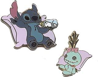 Authentic Disney Pin Set - *Stitch & Scrump* Chillin' on Pillows (2 Pins)!