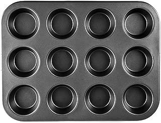 6//8//9//10 Pouce Rond Plat /À Tarte Plateau /À Tarte Plat En Acier Au Carbone Anti-adh/ésif Cuisson T/ôle Moule Feuilles Cuisine Outils Color : Black, Taille : 6 inches