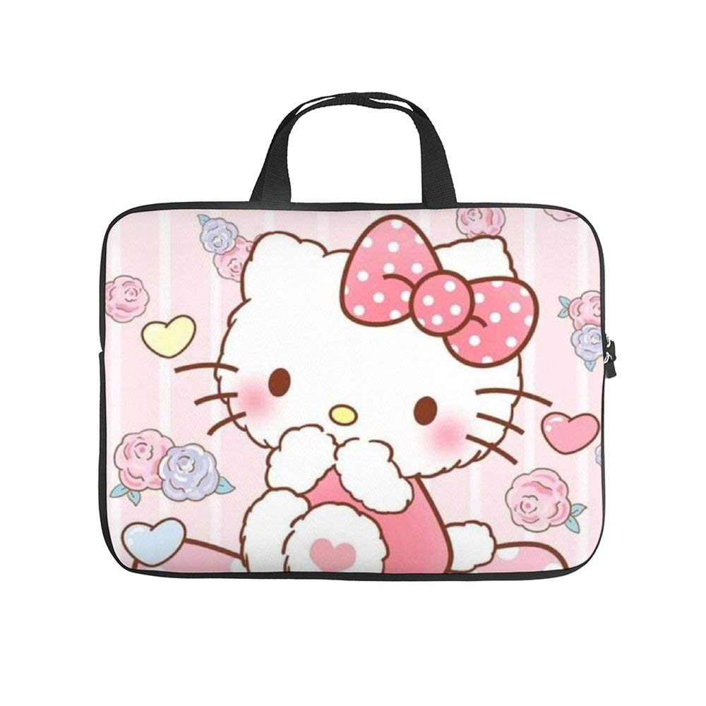 Pink Hello Kitty Laptop Bag Protective Case Tote Notebook Computer Pocket Case Carrying Zipper Bag 10-17 Inch
