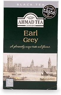 Ahmad Tea – Earl Grey | Schwarztee-Mischung mit Bergamotte | 20 Teebeutel á 2 g | Teebeutel mit Band