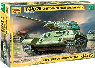 ZVEZDA 3535 - Soviet Medium Tank T-34/76 mod.1942 - Plastic Model Kit Scale 1/35 113 Parts Lenght 7.5