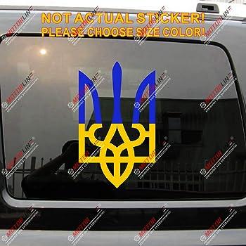 Ukrainian Trident Chrome decal emblem Ukraine Tryzub 3D sticker car bike 2x3 Car Chrome Decals