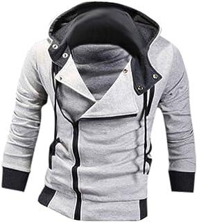 Jeansian–Giacca slim fit con cappuccio, giacca casual con zip, sportiva 8945