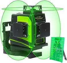 Huepar 3D Green Beam Self-Leveling Laser Level 3×360 Cross Line Three-Plane Leveling..