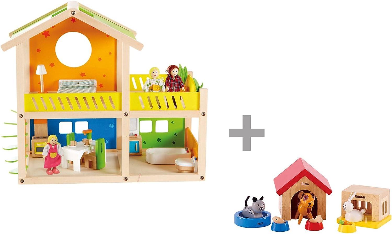 hasta un 50% de descuento Casa de muñecas con Muebles, la Familia Familia Familia y los Animales, Hape  entrega gratis