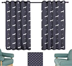 Warm Family Horses Simple Curtain Animal Pattern Sublime Mustang Silhouette Wildlife Horseshoe Abstract Set of Two Panels 63