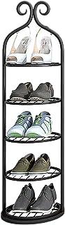 Rangement Etagere Meuble Range Chaussure Mince et Grand Organisateur de Porte-chaussures pour Small Space, Rond Verticale ...