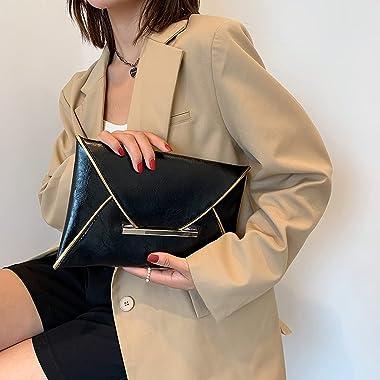 Jumpauto Fashion Damen PU Leder Einfarbig Umschlag Tasche Tag Clutch Kleine Geldbörse