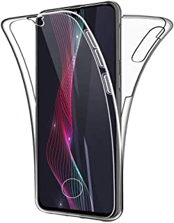 Oihxse Silicona TPU Funda para Samsung Galaxy A5 2018A8 2018 Carcasa Flexibles Ultra-Delgado Transparente Completa 360 Gr...