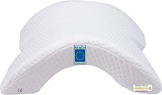 AIMO Almohada para Brazo WNP001. Almohada en Forma de túnel para Dormir en Pareja, Personas Que Duermen sobre su Hombro, descasar en la Oficina, etc. Funda Exterior Lavable. Certificados Reach y CE