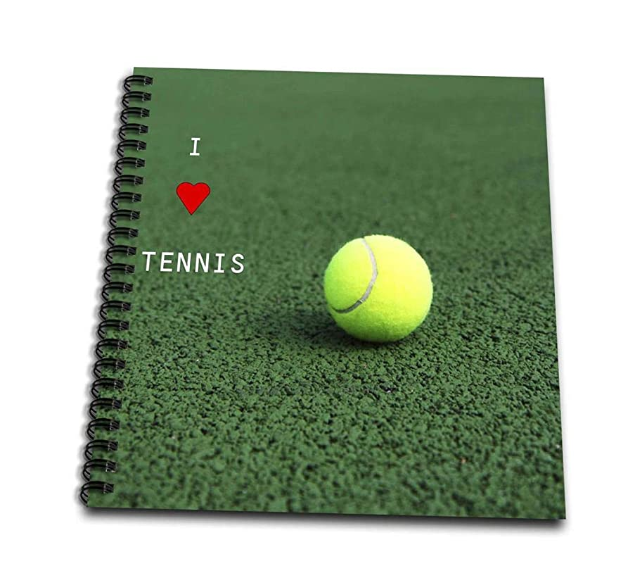 3dRose db_50212_1 I Love Tennis-Drawing Book, 8 by 8-Inch