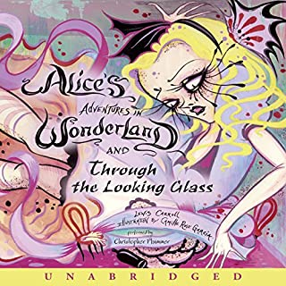 Alice's Adventures in Wonderland and Through the Looking Glass cover art