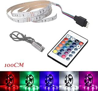 Little Story 100CM USB LED Strip Light TV Back Lamp 2835RGB Colour Changing+Remote Control