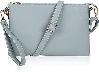 Convertible Vegan Leather Oversized Clutch Bag - Travel Tablet Purse Pouch Messenger Wristlet, Shoulder & Crossbody Strap