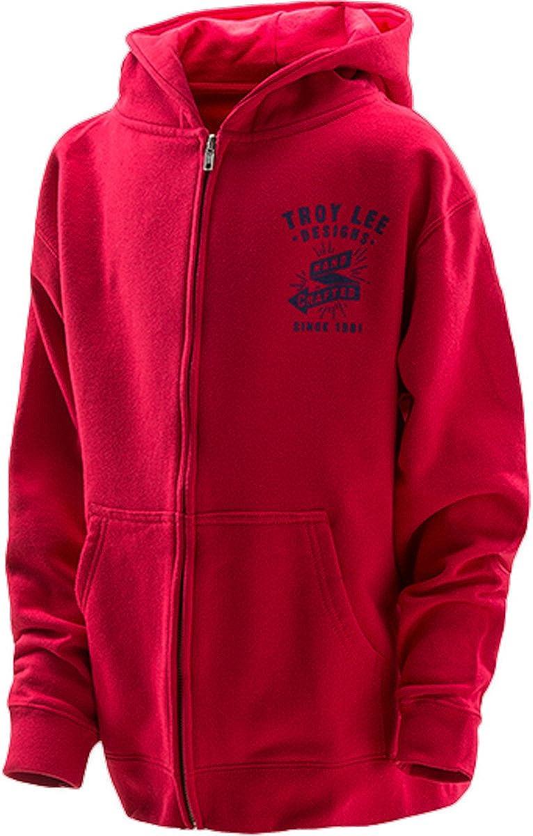 Troy Lee Designs Ranking TOP4 Boys Hand Hoody Zip Crafted Large special price !! Sweatshirt