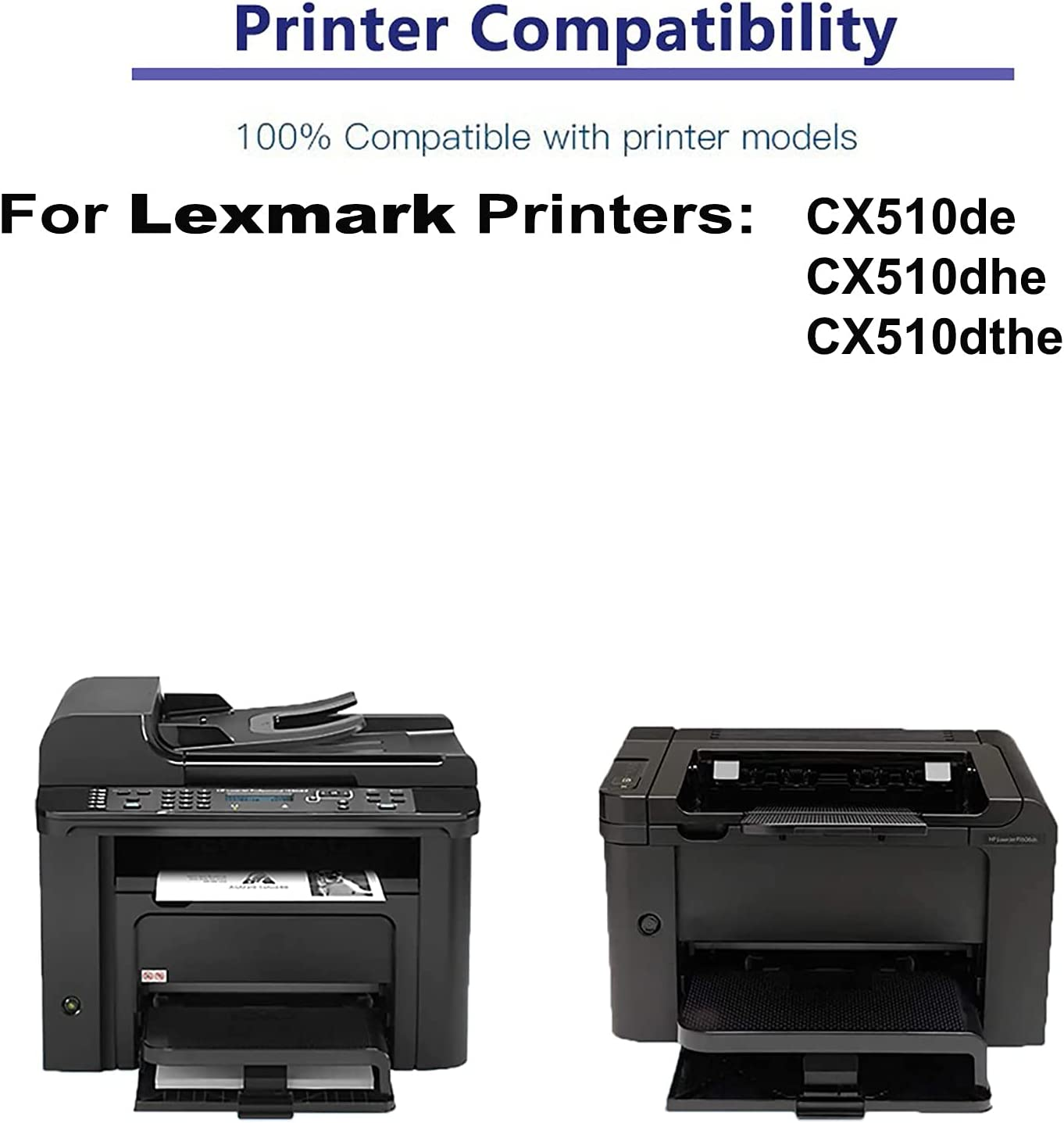 2-Pack (Magenta) Compatible CX510de, CX510dhe, CX510dthe Printer Toner Cartridge High Capacity Replacement for Lexmark 80C0XMG Toner Cartridge