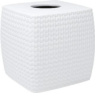 Croscill Juno Bath Tissue Cover, White