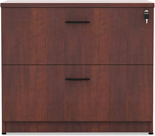 Alera VA513622MC Valencia Series 35 Inch By 22 By 29 1 2 Inch 2 Drawer Lateral File Medium Cherry