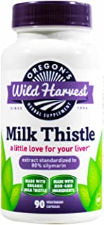 Oregons Wild Harvest Milk Thistle -Organic - 90 caps