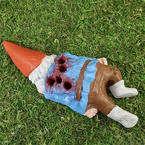 Maierin Creative Garden Creative Zombie Gnome Statue Decoration, Resin Dwarf Statue, Outdoor Art...