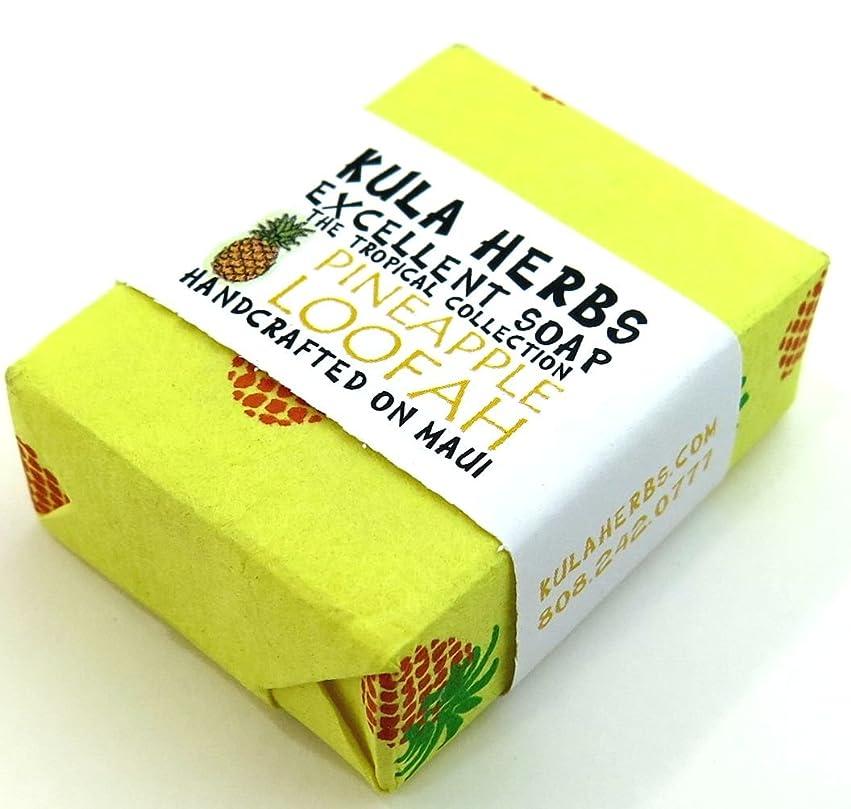 青写真征服者ルートハワイ お土産 ハワイアン雑貨 クラハーブス エクセレント ソープ 石鹸 30g (パイナップル)