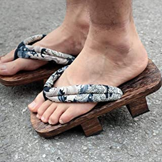 YYTIANYY Flip flop Cosplay Geta Clogs Slippers Japanese Wooden Shoes Men Women Sandals-B_36 Wooden slippers (Color : B, Si...