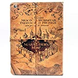 iPad 2017 iPad 9.7-inch Case, Marauder's Map Vintage Pattern Leather Flip Stand Case Cover for Apple iPad 9.7-inch 2017/2018