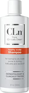 CLn Shampoo - Shampoo for Scalp Prone to Folliculitis, Dermatitis, Dandruff, Itchy and Flaky Scalp – Healthy Scalp Shampoo, (8 Ounces)