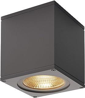 SLV Big Theo Plafonnier LED, 3000K, aluminium/verre, 21W, Aluminium/verre, anthracite 21W 230V 234535