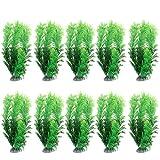 BESPORTBLE 10 Unids Acuario Planta Artificial de Plástico Peces de Colores Paisaje Acuático Cueros de Peces Esbelta Hierba de Agua Falsa Rocalla Ornamento de Paisajismo Decoración del Tanque