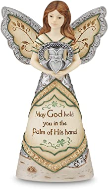 Elements Irish Blessing Angel Figurine by Pavilion, 6-Inch, Inscription May God Hold You in The Palm of His Hand