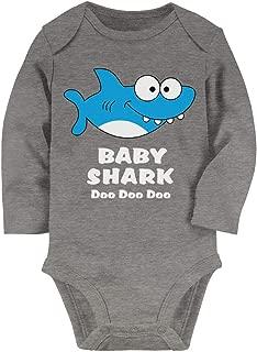 Tstars Baby Shark Song Doo doo doo Family Dance for Boy Girl Baby Long Sleeve Bodysuit