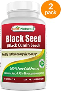 2 Pack - Best Naturals Black Seed Oil 500 mg 90 Softgels (Total 180 Count)