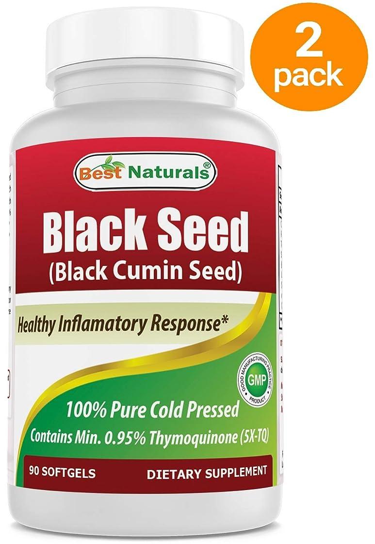 無限大騒乱シチリア2パック- Best Naturalsブラックシードオイル500 mg 90ソフトジェル(合計180カウント)