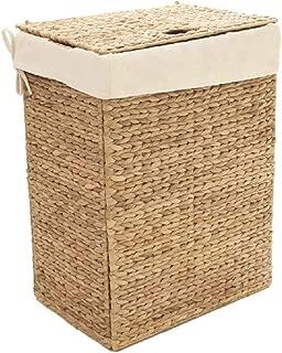 Seville Classics Foldable Water Hyacinth Portable Laundry Hamper, Basket