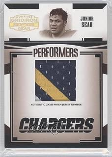 Junior Seau #36/100 (Football Card) 2005 Donruss Gridiron Gear - Performers - Jersey Number [Memorabilia] #P-28