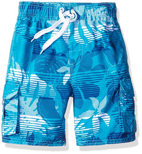 Kanu Surf - Bañador para bebé, diseño Floral, Agua (Aqua), 4 Años