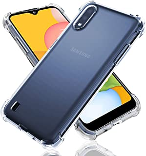 Galaxy A01 Case, Shock-Resistant Flexible TPU Gasbag Protection Rubber Soft Silicone Anti Dropping Phone Case Cover for Sa...