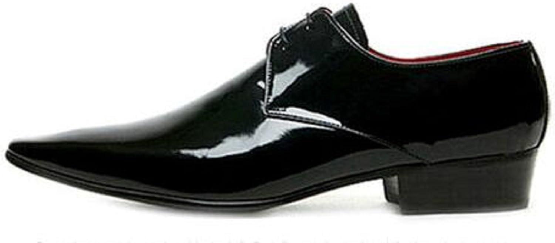 HAPPYSHOP TM Mens Leather British Shoe Style Gorgeous SEAL limited product Business Derby Suit