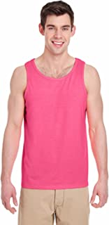 Heavy Cotton Tank Top. 5200 Safety Pink