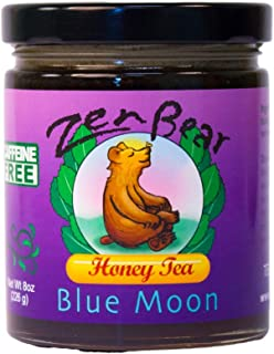 Zen Bear | Blue Moon | Herb Infused Organic Raw Honey Tea with Blueberry, Lavender, Maca, Red Raspberry Leaf, Red Clover |...