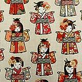 Werthers Stoffe Stoff Meterware Baumwolle Geisha japanisch