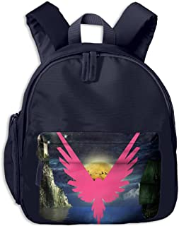 Logan Paul Logo Maverick Pink Toddler School Backpack With Front Pockets