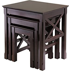 Winsome Wood 40333 Xola Nesting Tables, Cappuccino