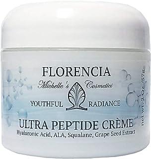Florencia Ultra Peptide Cream, Anti Aging Moisturizer (2 oz); Matrixyl 3000, Hyaluronic Acid, Vitamin C, E, A, Alfa Lipoic...
